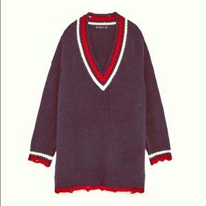 Zara Oversized Varsity Sweater